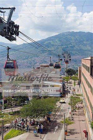 MetrocAble en gondole, Medellin, Colombie, Amérique du Sud