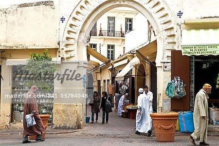 Petit Socco Eingang, Tanger, Marokko, Nordafrika, Afrika