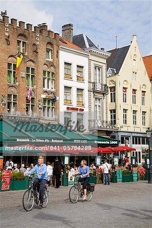 Place du marché, Bruges, West Flanders, Belgique, Europe