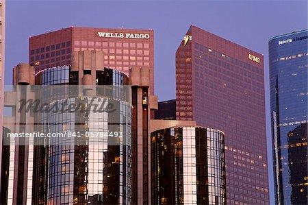 Gratte-ciel du centre-ville de Los Angeles, Californie, États-Unis d'Amérique, l'Amérique du Nord