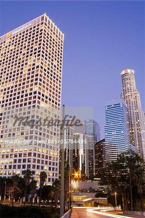 Banque de l'Union sur la gauche et la U.S. Bank towers à Los Angeles, Californie, États-Unis d'Amérique, l'Amérique du Nord