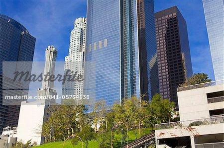 Gratte-ciels dans le Bunker Hill District, Los Angeles, Californie, États-Unis d'Amérique, l'Amérique du Nord