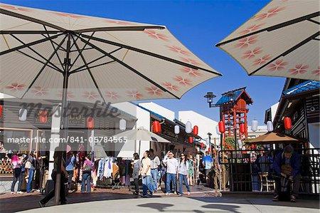 Esplanade du Village japonais, Little Tokyo, Los Angeles, Californie, États-Unis d'Amérique, l'Amérique du Nord
