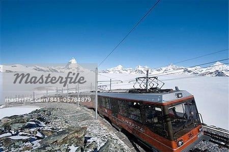 Matterhorn et Gornergrat roue crémaillère, Goronergrat pic, Suisse, Europe