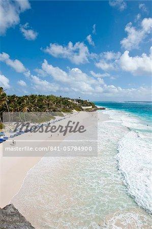 Crane Beach à Crane Beach Resort, Barbade, îles sous-le-vent, Antilles, Caraïbes, Amérique centrale