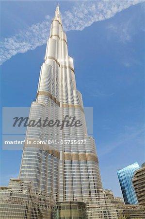 Burj Khalifa, le plus haut bâtiment du monde à 828 mètres, Dubai, Émirats Arabes Unis, Moyen-Orient