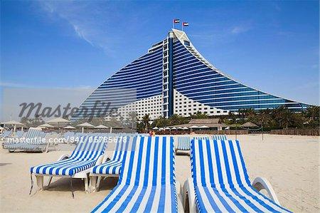 Hotel de la plage de Jumeirah, Jumeirah Beach, Dubaï, Émirats Arabes Unis, Moyen-Orient