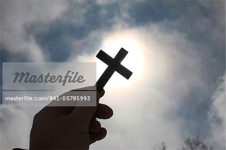 Croix dans le ciel, Haute-Savoie, France, Europe
