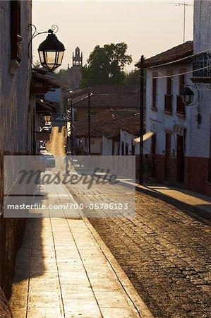 Straße in Patzcuaro, Michoacan, Mexiko