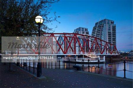Detroit Bridge, Salford Quays, Greater Manchester, England