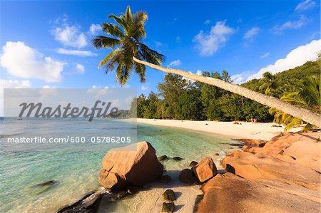 Küste bei schweren, Anse La Digue, Seychellen