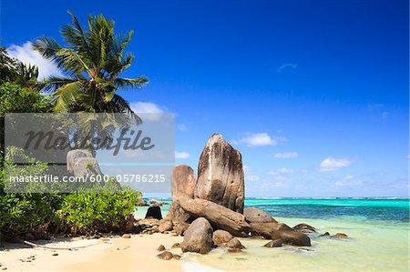 Granit Felsformationen, Anse Royal, Mahé, Seychellen