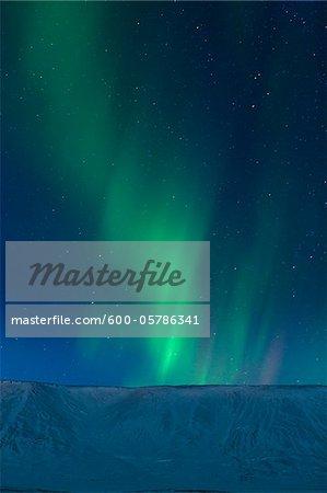 Aurora Borealis über Kleifarvatn, Reykjanes-Halbinsel, Island