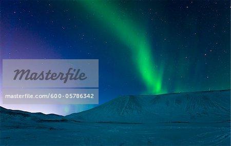 Aurora Borealis over Kleifarvatn, Reykjanes Peninsula, Iceland