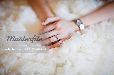 Close-Up of Bride's Hands
