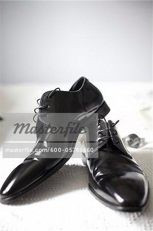 Gros plan des chaussures habillées