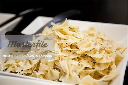 Dish of Bowtie Pasta