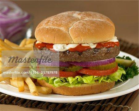 BBQ Blue Cheese Burger