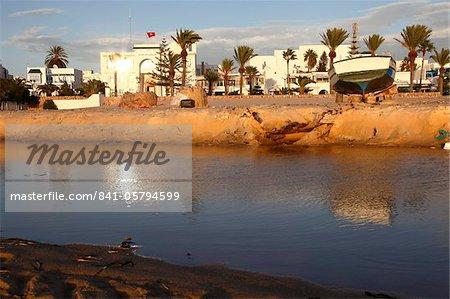 Canal et port, Hammamet, Tunisie, Afrique du Nord, Afrique