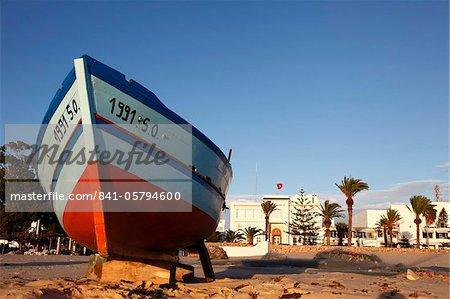Pêche bateau, Hammamet, Tunisie, l'Afrique du Nord, Afrique