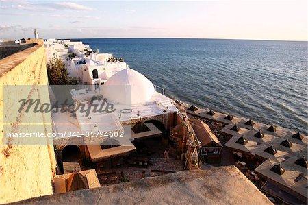 Bâtiments du secteur riverain de la Medina, Hammamet, Tunisie, l'Afrique du Nord, l'Afrique