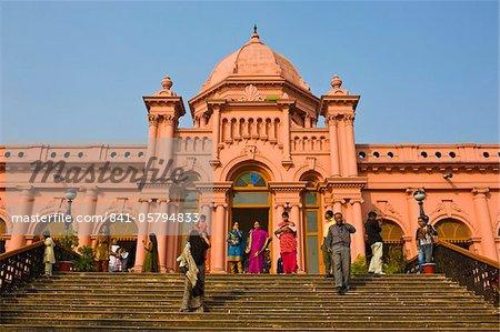The pink coloured Ahsan Manzil palace in Dhaka, Bangladesh, Asia