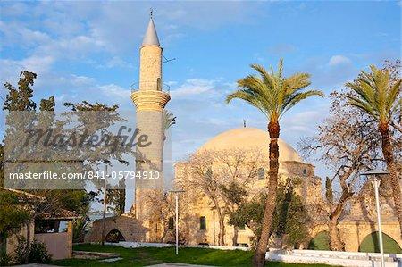 Europe, Larnaca, Chypre, la mosquée Hala Sultan Tekkesi