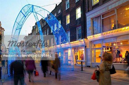 Weihnachten, Lichter, South Molton Street, London, England, Vereinigtes Königreich, Europa