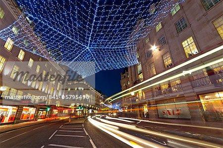Weihnachten, Lichter, Regents Street, London, England, Vereinigtes Königreich, Europa