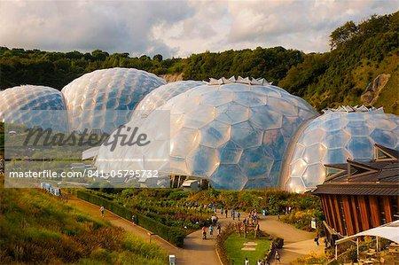 Eden-Projekt in der Nähe von St. Austell, Cornwall, England, Vereinigtes Königreich, Europa
