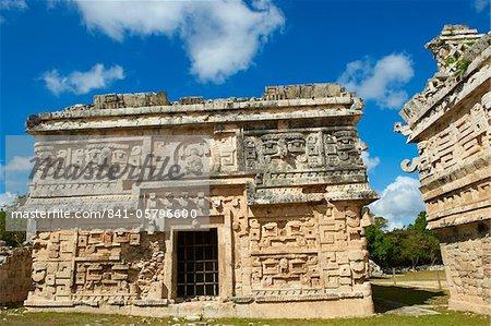 Ruines de l'église en maya antique, Chichen Itza, patrimoine mondial de l'UNESCO, Yucatan, Mexique, Amérique du Nord