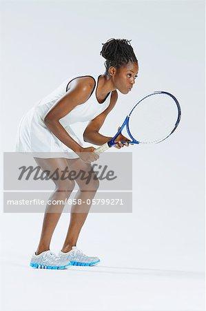 Female Tennis Player, Studio Shot