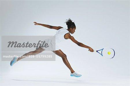 Female Tennis Player Playing Backhand-Shot