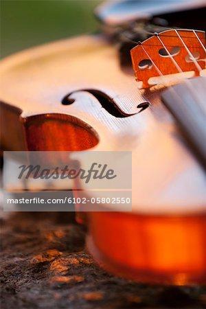 Nahaufnahme der Violine
