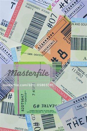 Pile of Movie Ticket Stubs