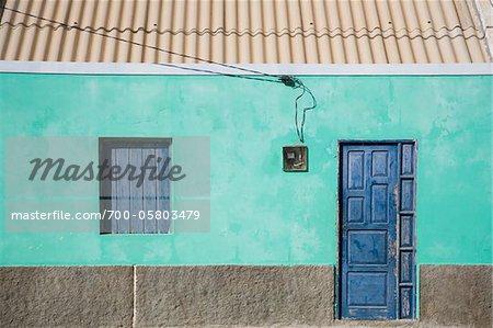Gros plan d'une maison, Boa Vista, Cap-vert, Afrique