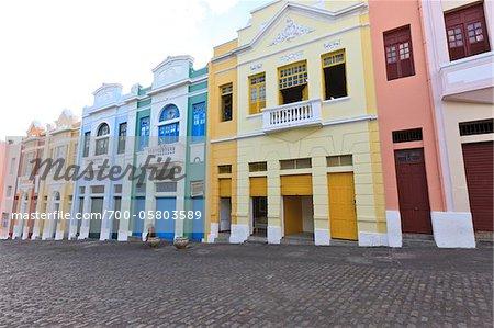 Bâtiments carrés Antenor Navarro, Joao Pessoa, Paraiba, Brésil