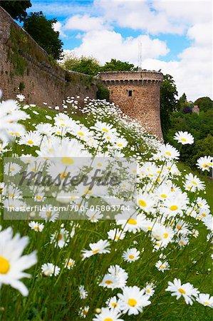 Murs de Dinan, côtes-d'Armor, Bretagne, France