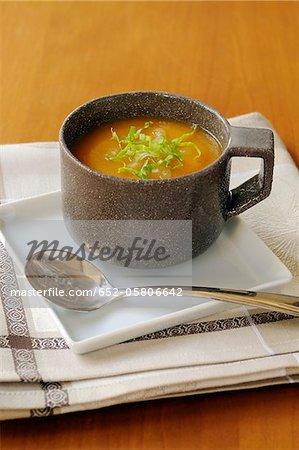 Soupe de potiron et céleri
