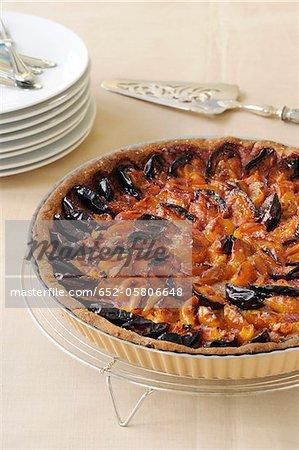Mirabelle and quetsche plum tart