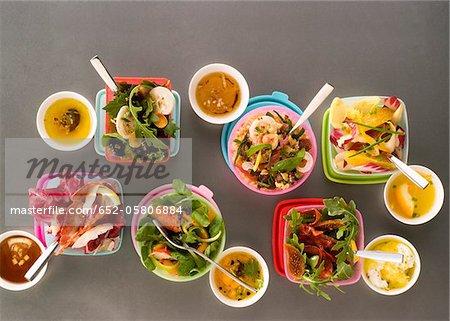 Assorted salads