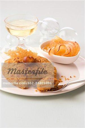 Foie gras enrobées de chapelure de pain d'épice