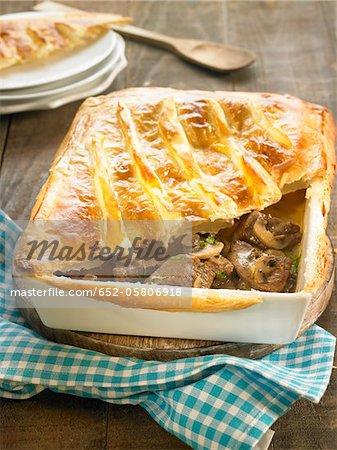 Veal and mushroom pie