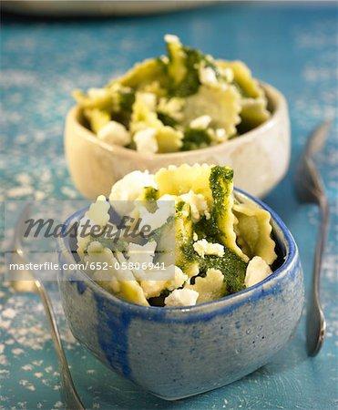 Ricotta,spinach and pine nut raviolis