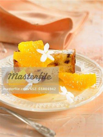 Orange blossom and jasmin cake with fresh oranges