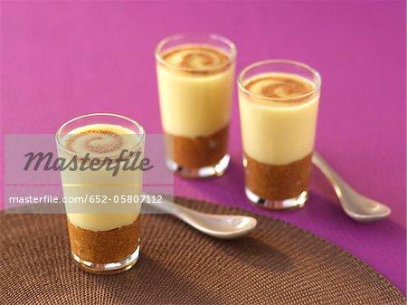 Chocolat, pomme et figue Verrine
