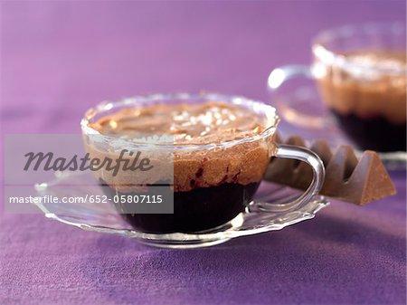 Chocolat et Verrines de Toblerone