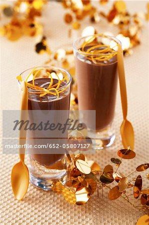 Mousse au chocolat et orange