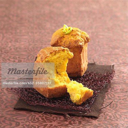 Gâteaux savoureuses aux poireaux et au curry