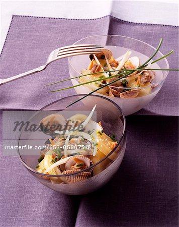 Potato and cockle salad